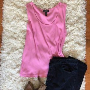 NWOT Pink Ralph Lauren Classic Cotton Rib Tank 2x